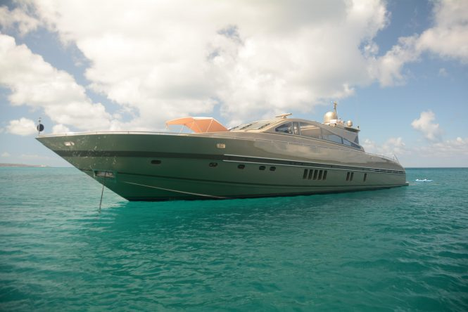 TENDER TO Anchored in the Caribbean