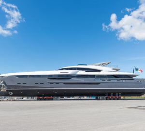 Photos from the launch of Rossinavi superyacht UTOPIA IV