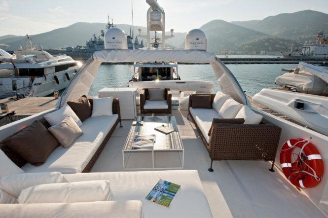 sun deck aboard Fortuna