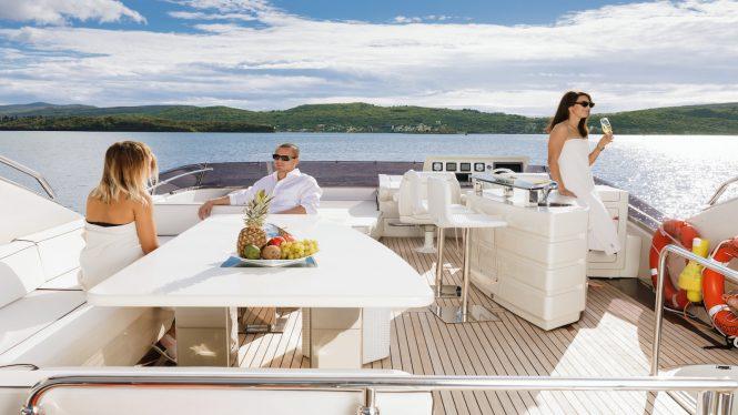 sun deck with bar
