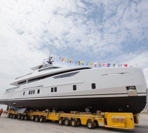 Alia Yachts launched motor yacht Virgen Del Mar VI