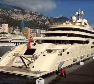 Mega Yacht Video: Dilbar in Monaco