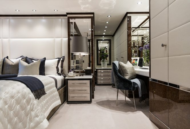 Elegant and sophisticated interiors for a truly luxurious yacht charter with 11.11