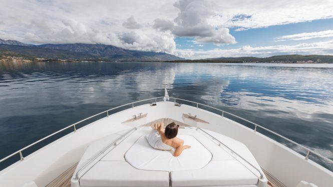 Enjoy the view aboard Saint Anna 1 while cruising Montenegro and Croatia