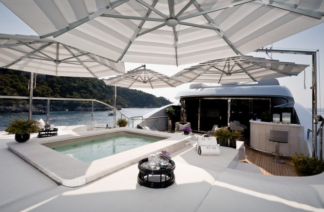 Fantastic pool with sun pads- Photo Jeff Brown