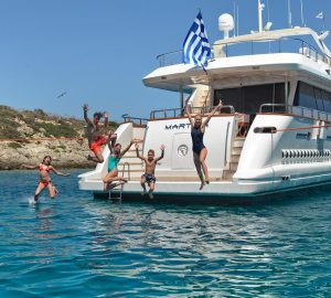 Yacht Vacations in Greece: 30m MARTINA Charter Special in June