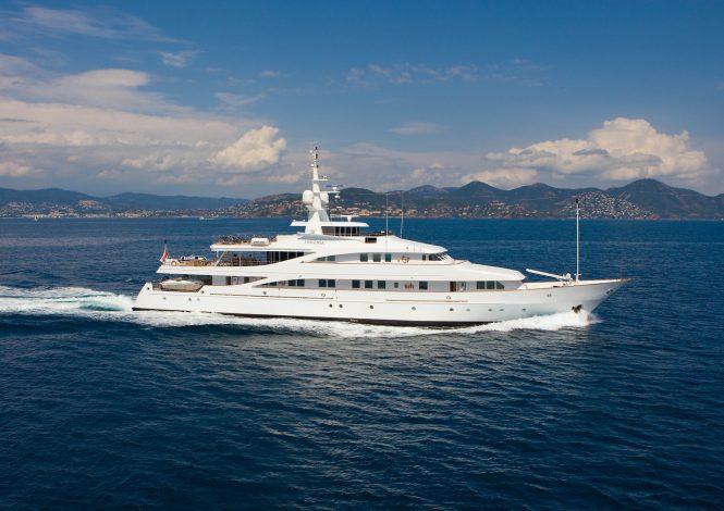 INSIGNIA cruising in the Mediterranean