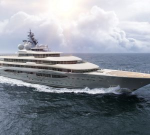 Imposing 136m Mega Yacht PROJECT SHU nearing completion