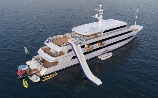 Luxury charter yacht KATINA with water toys