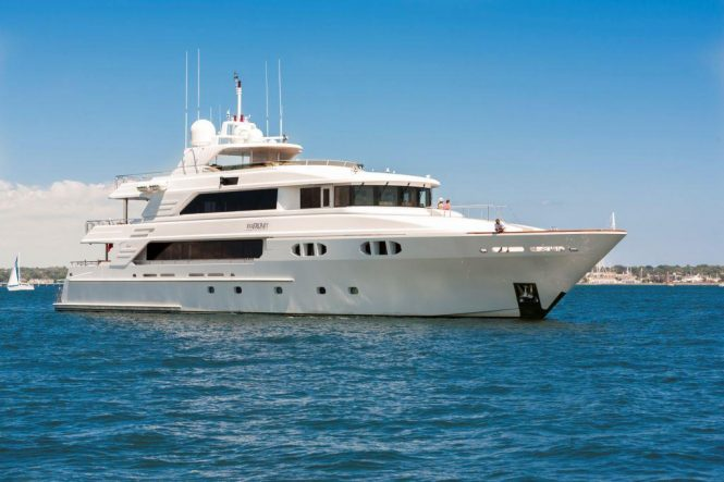 Luxury motor yacht FAR FROM IT available for charter in New England