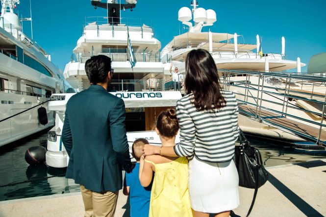 Motor Yacht OURANOS arrival