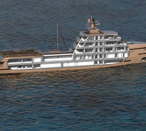 Tommaso Spadolini reveals layout and interiors of new 85m Rosetti Superyachts supply vessel concept