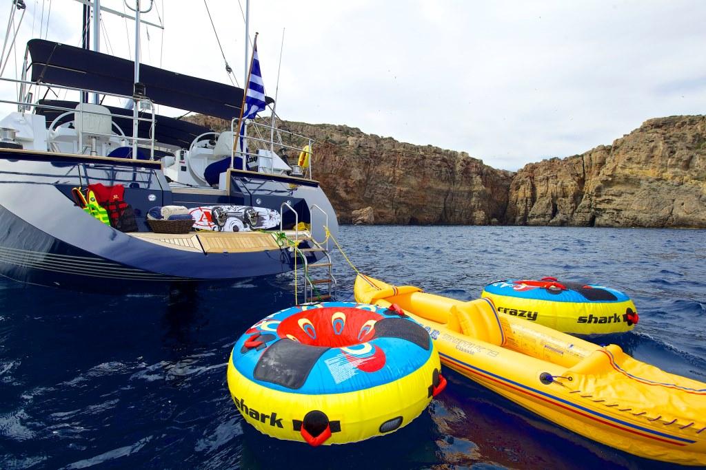 Sailing yacht AMADEUS - Swim Platform and Toys