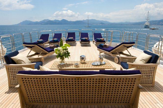 Sundeck Seating and Sunbathing Area
