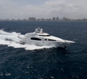 No Delivery Fees with 36m CHARISMA available for yacht charters in the Bahamas