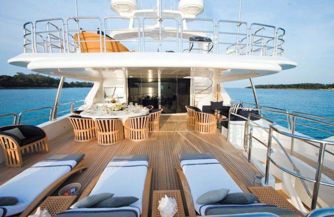 aboard superyacht SEABLUE'Z