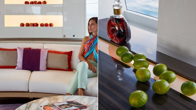attention to detail and luxury service on a superyacht