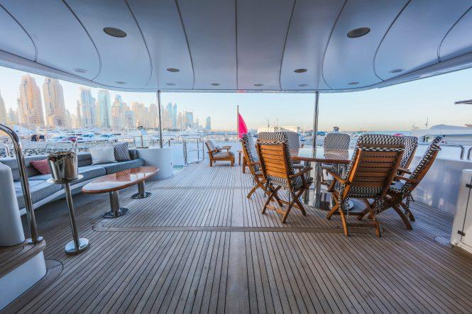 expansive decks aboard DXB