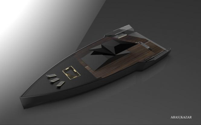 48m yacht NAVE NERA by ARAS KAZAR