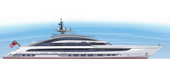 80m Project Cosmos superyacht by Heesen