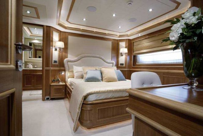 Accommodation aboard the 43m CRN motor yacht