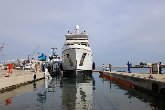 BEYOND CAPRICORN yacht re-launched after refit