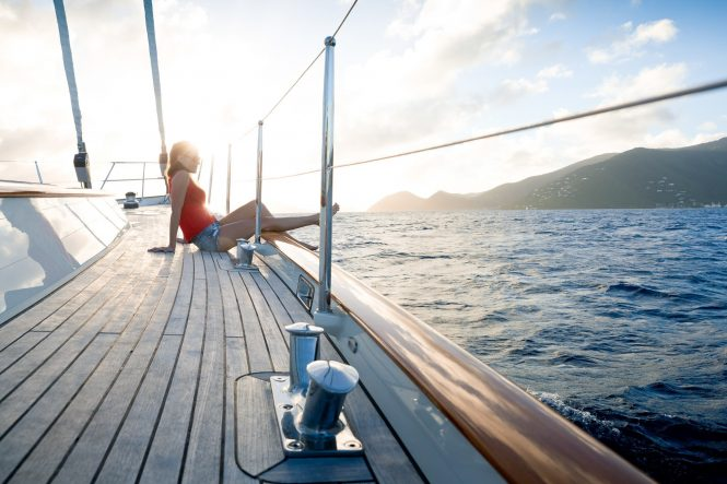 Complete relaxation aboard sailing yacht MARAE