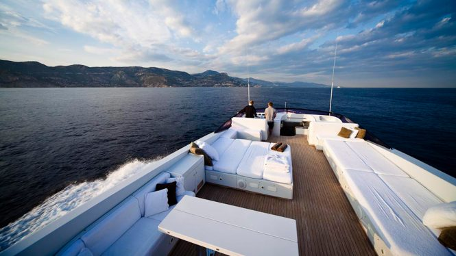 Fantastic deck spaces aboard TALILA
