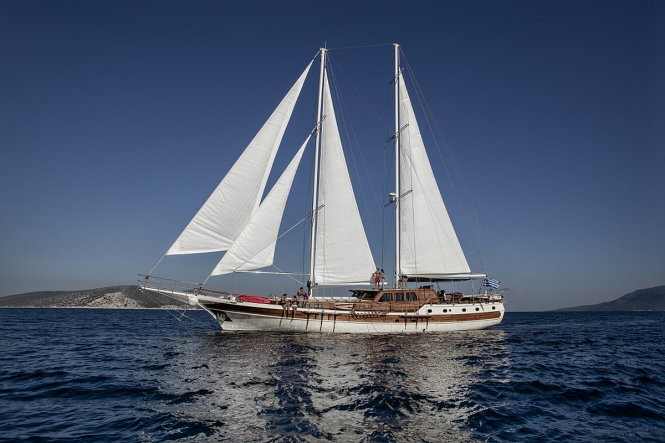 Greek yacht charter with gulet ERATO