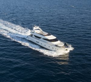 Special Charter Rate by 24m motor yacht HAPPY FEET in Naples, Italy