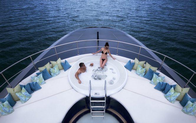 Jacuzzi aboard OCEAN EMERALD yacht