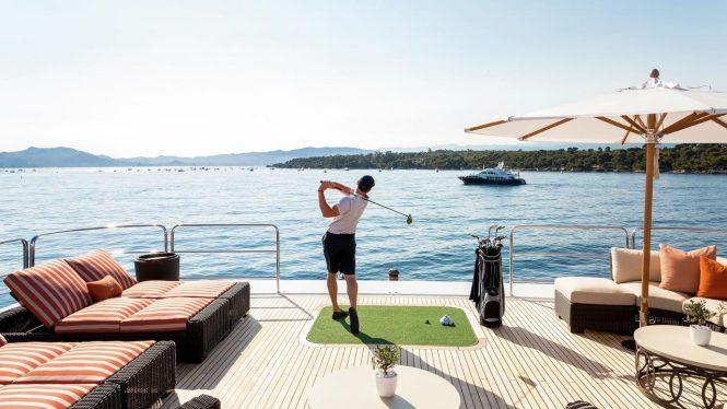 Luxury lifestyle aboard Lucky Lady