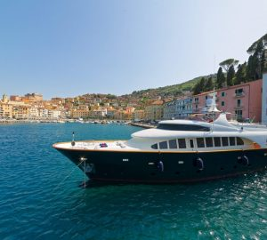 'No Delivery Fees' charter special for 27m motor yacht BUGIA in Italy