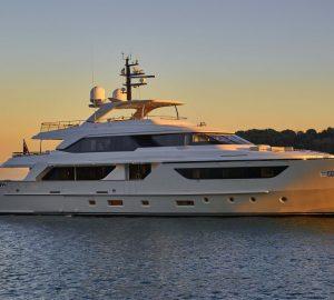 38m Sanlorenzo motor yacht TAKARA offering 5% discount in Balearics