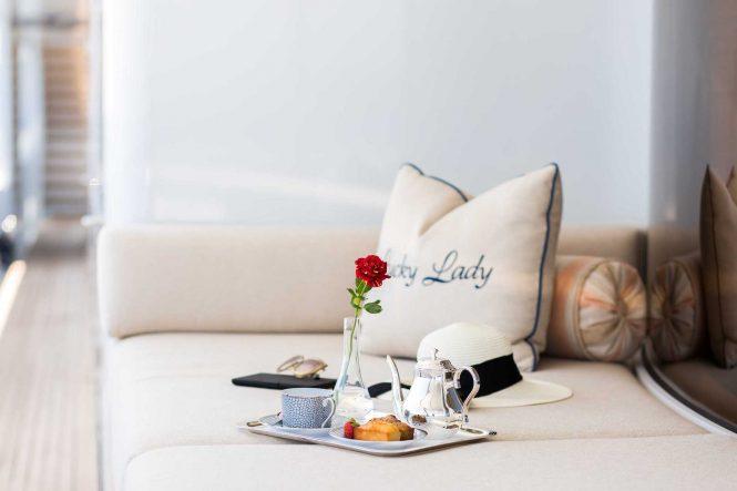 Luxury service 24/7 aboard LUCKY LADY superyacht