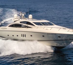 25m Sunseeker Predator OCTAVIA includes berth in weekly rate in Sardinia's Porto Cervo
