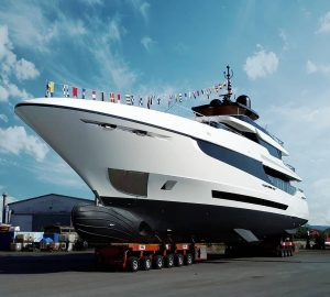 43m Superyacht Mangusta Oceano 43 launched at Overmarine