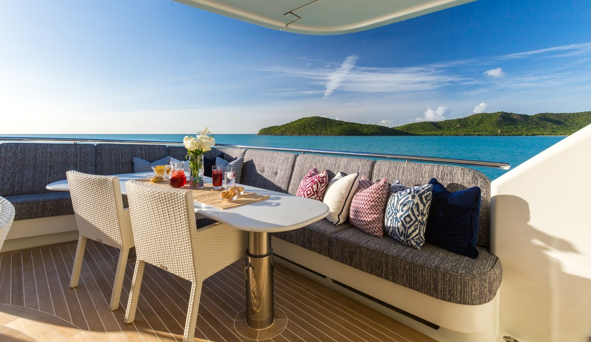 Outdoor Dining Seating Area Yacht Charter Superyacht News