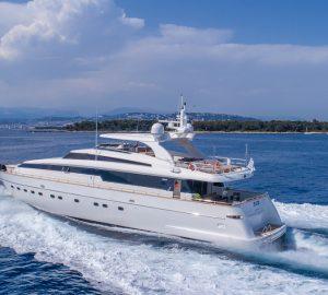 Sanlorenzo Motor Yacht SUD offering 15% off June charters in Western Mediterranean