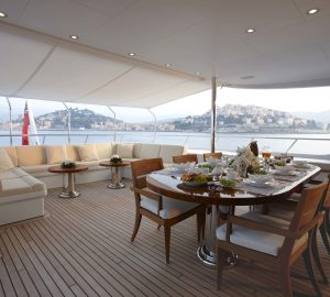 39m Superyacht KATHLEEN ANNE offering 10% off June charters in the Western Mediterranean