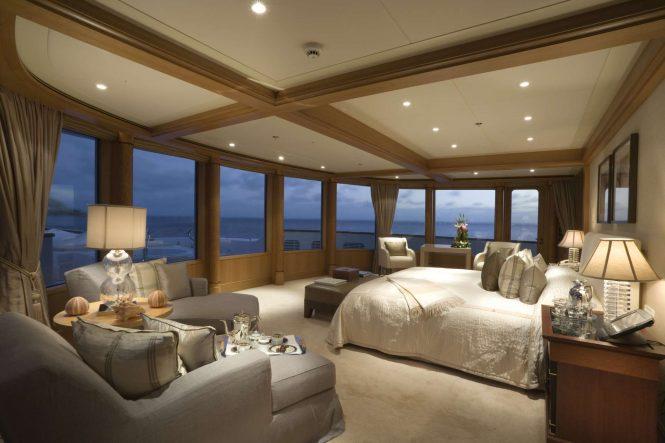 Spacious master suite with panoramic views