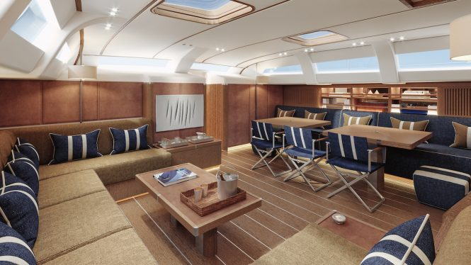 Traditional Navy option for the interiors