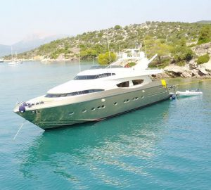 29m motor yacht ZAMBEZI offering 10% off crewed luxury charters in Greece