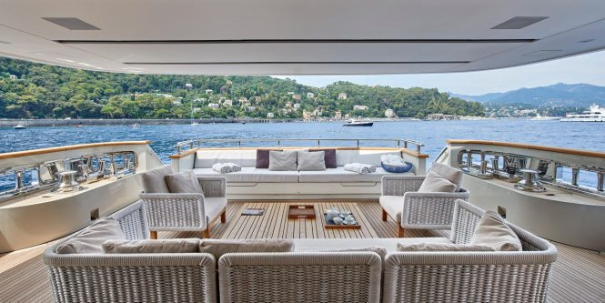 fabulous aft deck to relax on