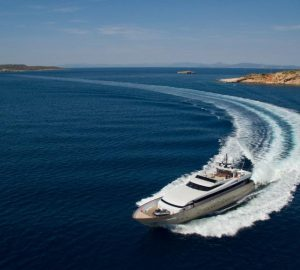 34m motor yacht ITHAKI offering 10% off Greek charter vacations