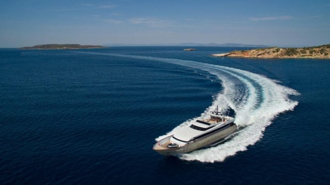 luxury yacht ITHAKI available in Greece