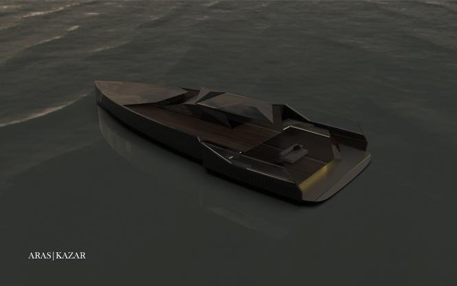 motor yacht NAVE NERA by ARAS KAZAR.