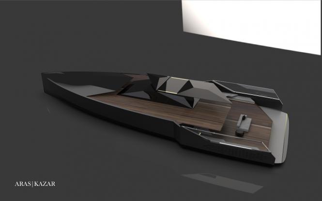 yacht NAVE NERA by ARAS KAZAR