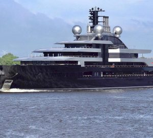 Watch: 135m Lurssen Yacht PROJECT THUNDER comes back from sea trials