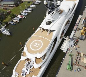 ANNA (ex Project 1007) - aerial view. Photo credit Feadship